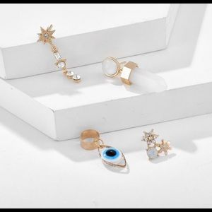⭐️🧿🆕 evil eye earring & cuff set